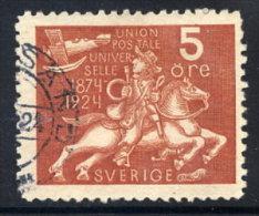 SWEDEN 1924 UPU Anniversary 5 öre  Used.  Michel 159 - Sweden