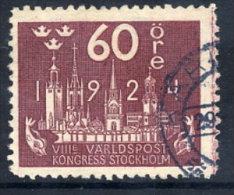 SWEDEN 1924 UPU Congress 60 öre  Used.  Michel 154 - Sweden