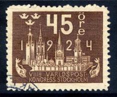 SWEDEN 1924 UPU Congress 45 öre  Used.  Michel 152 - Sweden