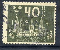 SWEDEN 1924 UPU Congress 40 öre  Used.  Michel 151 - Sweden