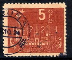 SWEDEN 1924 UPU Congress 5 öre  Used.  Michel 144 - Sweden