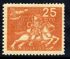 SWEDEN 1924 UPU Anniversary 25 öre  LHM / *.  Michel 163 - Sweden