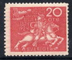 SWEDEN 1924 UPU Anniversary 20 öre  LHM / *.  Michel 163 - Sweden