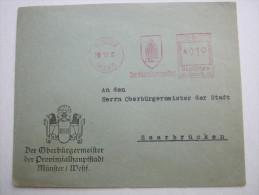 1935 , Münster   , Freistempel  Auf   Briefvorderseite - Deutschland