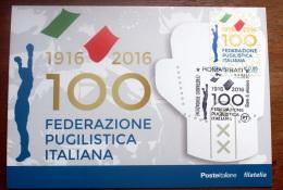 """ITALIA 2016 -  """"100 ANNI FEDERAZIONE BOXE"""", OFFICIAL MAXICARD - 2011-...:  Nuovi"""