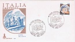 I+ Italien 1980 Mi 1703 FDC Castel Del Monte - 6. 1946-.. Republic