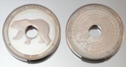 Arctique 10 Dollars 2011 Hole Monnaie Bimétallique Précieuse Animal Polaire - Monnaies