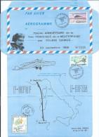 75ème ANNIVERSAIRE DE LA 1ère TRAVERSÉE DE LA MÉDITERRANÉENNE PAR  ROLAND GARROS N°2544 - Entiers Postaux