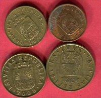 4 Monnaies Ttb 3 - Lettland
