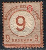 9 Kreuzer Gelbbraun DR Nr. 30 Ungebraucht Mit Falz - Allemagne