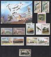 A195.-. KOLUMBIEN / COLOMBIA.-. 1960-2015. TRAINS, STATIONS AND RELATED ITEMS FROM COLOMBIAN ISSUES. CV €:€ 22 - Trains