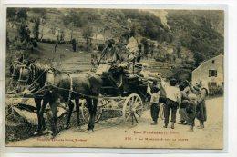 09 LES PYRENEES La Mendicité Bohémiens Et Fiacre De Touristes Route 1909 écrite COUFLANS  Vers ST GIRONS    /D04-2016 - Frankrijk