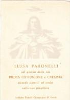 BIGLIETTO PARTECIPAZIONE PRIMA COMUNIONE - TORINO 1954 - Comunioni
