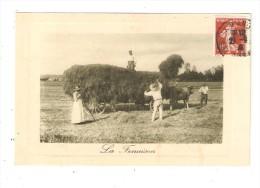CPA LA FENAISON Paysans Attelage Boeufs - Cultures
