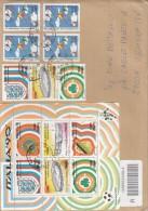 Italia Rep. 1990 - Lettera Racc. X L'interno Affrancata Con 7 Stamps + Foglietto Calcio '90 Sassone 9 - 1981-90: Marcofilia