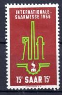 SARRE. AÑO 1956. Mi 368. (MH) - 1947-56 Protectorate