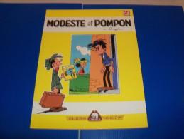 FRANQUIN. Modeste Et Pompon N° 2. Album PUB Côte D'Or. Collection Les BD D'OR. 1987. Proost. Belgique. - Oggetti Pubblicitari