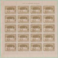 Exposition 1897 Bruxelles (volledig Blad 20 Zegels - Zie Scans)(2) - Ohne Zuordnung