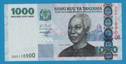 TANZANIA 1000 Shilingi  ND (2006) Serie DU   P# 36b  President Julius Kambarage Nyerere - Tanzanie
