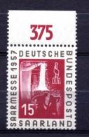 SARRE. AÑO 1957. Mi 400. (MNH) - 1957-59 Federation