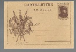 FRANCHISE MILITAIRE - CARTE LETTRE DES ALLIES - VIVE LES ALLIES - VIERGE - TTBE - Tarjetas De Franquicia Militare