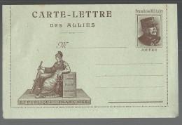 FRANCHISE MILITAIRE WW1 - CARTE LETTRE DES ALLIES - MARIANNE - VIERGE - TTBE - Tarjetas De Franquicia Militare