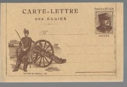 FRANCHISE MILITAIRE WW1 - CARTE LETTRE DES ALLIES - NOTRE GLOTIEUX 75 - VIERGE - TTBE - Tarjetas De Franquicia Militare