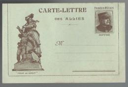 FRANCHISE MILITAIRE WW1 - CARTE LETTRE DES ALLIES - POUR LE DROIT - VIERGE - TTBE - Tarjetas De Franquicia Militare