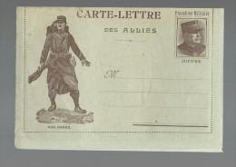 FRANCHISE MILITAIRE WW1 - CARTE LETTRE DES ALLIES - NOS HEROS  - VIERGE - TTBE - Tarjetas De Franquicia Militare