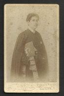 Portugal Photo Portrait Ancienne 1900 Étudiant Queima Das Fitas Photographia Conimbricense Coimbra Old Photo Portrait - Mestieri