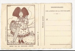 FRANCHISE MILITAIRE WW1 - CARTE - ALSACIENNE - HANSI  - VIERGE -TTBE - SUPERBE - Tarjetas De Franquicia Militare