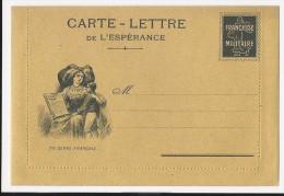 FRANCHISE MILITAIRE WW1 -CARTE LETTRE DE L ESPERANCE - ALSACIENNE - VIERGE -TTBE - Tarjetas De Franquicia Militare