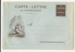 FRANCHISE MILITAIRE WW1 -CARTE LETTRE DE L ESPERANCE - LION - VIERGE -TTBE - Tarjetas De Franquicia Militare