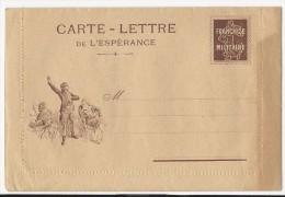 FRANCHISE MILITAIRE WW1 -CARTE LETTRE DE L ESPERANCE - - VIERGE -TTBE - Tarjetas De Franquicia Militare