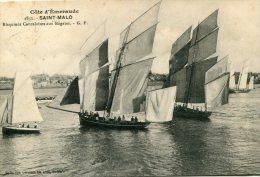 FRANCE -  SAINT MARLO Bisquines Cancalaises Aux Regates 1912 - Saint Malo
