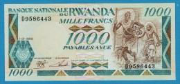 RWANDA 1000 FRANCS 1.01.1988  # D9586443 P# 21 Gorillas - Rwanda