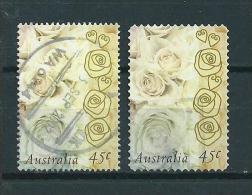 1998 Australia Complete Set Valentine Self Adhesive+sheet Used/gebruikt/oblitere - 1990-99 Elizabeth II