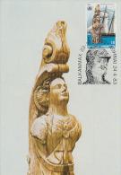 Carte-Maximum GRECE N°Yvert 1485 / Figure De Proue Du Navire Inconnu - Maximum Cards & Covers