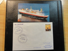 Ship Mail Cover MS M/S NARVIK Polar Circle Nordkapp +cut Magazine Photo Norway - Covers & Documents