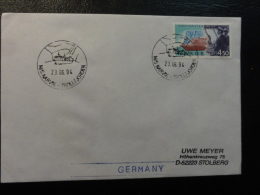Ship Mail Cover MS M/S NARVIK 1994 Hurtigruten Troll Fjorden Norway - Covers & Documents