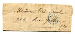 Lettre Paris Pour Paris Avec Petit Cachet Bleu 15c Et Cad Au Dos 13 Octobre 1830 ? - T 152 - 1801-1848: Voorlopers XIX