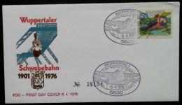 RFA - FDC 1976 - YT N°730 - CHEMIN DE FER SUSPENDU DE WUPPERTAL - [7] Federal Republic