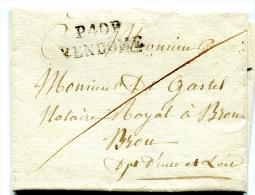 Lettre De Vendôme Pour Brou Avec Griffe Port Payé - 4 Décembre 1816 - T 153 - 1801-1848: Précurseurs XIX
