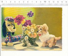 CPSM Humour Chiens Et Bouquet De Fleurs / Chien Race ?? Basset ?? Teckel ???   // 2/398 - Humor