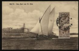 S1190 Malta AK Postkarte Boot: Gebraucht Valetta 1914 - Malte