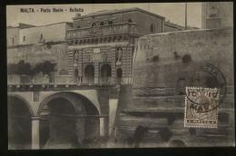 S1194 Malta AK Postkarte Eingangstor: Gebraucht Valetta 1914 - Malte