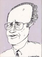 25638 -RENNES 35 France -karten Post Edmond Herve Maire Dessin C Cadudal Hommes Politiques Bretons N° 3 -tirage 300ex