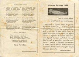 Citerna PG - Santino Depliant Antico PASQUA 1948 PACE A QUESTA CASA E A TUTTI QUELLI CHE VI ABITANO Rituale Romano - M33 - Religione & Esoterismo