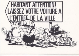 25642 -RENNES 35 France -capitale Meandres Circulation -commercants Centre Ville -1982 Voiture Dessin - Rennes
