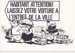 25642 -RENNES 35 France -capitale Meandres Circulation -commercants Centre Ville -1982 Voiture Dessin